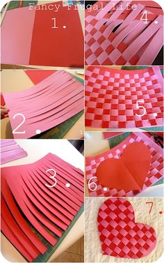 foam woven into heart placemats