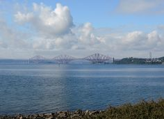 Forth rail bridge from dalgety bay,fife scotland..