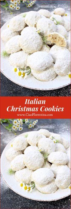 Italian Christmas Cookies or Wedding Cookies   CiaoFlorentina.com @CiaoFlorentina
