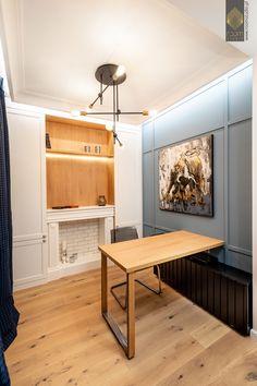 Modern Classic, Home Office, Corner Desk, Studio, Wood, Table, Furniture, Panelling, Home Decor