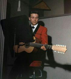 Waylon Jennings, performing in historic RCA Studio B, mid 1960's.