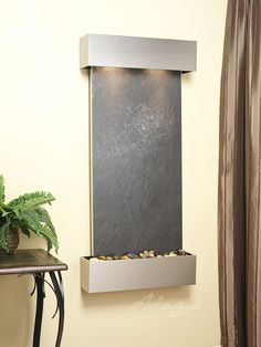 This series of wall mounted water features is aptly named the Cascade Springs wall fountain. Built to last we offer our clients the opportunity to create a living wealth of energy and beauty in any indoor environment. Table Fountain, Indoor Fountain, Indoor Waterfall, Waterfall Fountain, Water Walls, Beautiful Wall, Interior Exterior, Metal Walls, Water Features