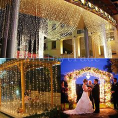 300/900/1800 LED Outdoor Fairy Curtains String light for Xmas Wedding Party #AGPTEK