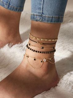 To find out about the Fish Decor Anklet at SHEIN, part of our latest Body Jewellery ready to shop online today! Ankle Jewelry, Hand Jewelry, Trendy Jewelry, Simple Jewelry, Cute Jewelry, Body Jewelry, Beaded Jewelry, Jewelry Accessories, Fashion Jewelry