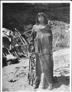Young Havasupai Indian women with a baby basket, ca.1900 :: California Historical Society Collection, 1860-1960