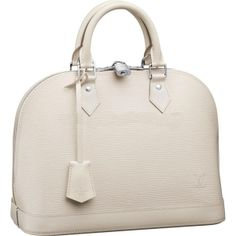 """Louis Vuitton Alma Epi Leather M4030J Handbags:The ever-stylish Alma looks beautifully feminine in smooth Epi leather. Its iconic shape is enhanced with polished silver-coloured pieces and luxurious leather trimmings, ensuring lasting appeal.  * Size:12.8"""" x 9.4"""" x 6"""" * Leather key tag * Double zip with padlock closure * Wide opening for easy access * Interior patch and phone pockets * Soft Microfibre lining * Protective bottom studs"""