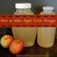 How to make apple cider vinegar - Apple cider vinegar, or ACV, is so simple and easy to ferment and make! | Montana Homesteader