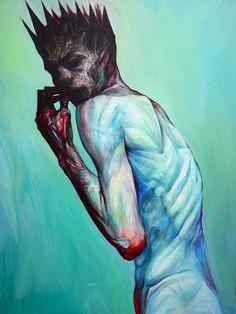 Prince / Fear, 2014, oil on canvas, Milan Nenezic Portfolio