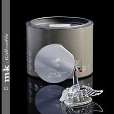 SWAROVSKI CRYSTAL SWAN FAMILY MINT IN BOX WITH CERTIFICATE!!! - $51