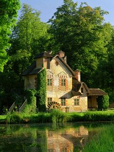 The mill of Marie-Antoinette's Estate - One of my favorite places at Versailles, even did a pastel drawing of this back in highschool art class.
