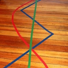 Gross Motor activities for kids: Lines of Colored Tape