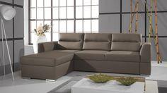Rozkladacie sedacie súpravy do L Calhoun III Corner Sofa Bed Leather, Black Corner Sofa, Corner Sofa Bed With Storage, Leather Sofa, Sofa Design, Couch L Form, Sofa Bed Dimensions, Sofa Italia, Italian Sofa