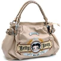 Betty Boop® classic shoulder bag with studded straps and sparkle accents - FREE SHIPPING