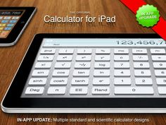 The iPad doesn't come with a native calculator app, making the free Calculator for iPad app a must-have. It combines functions for quick computations and a full scientific calculator, and you can even choose from several themes.  Image courtesy of Calculator for iPad