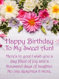 To my warm caring aunt happy birthday wishes card big colorful happy birthday card for aunt there are few people who can m4hsunfo Gallery