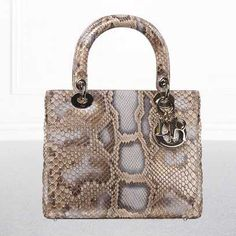 M0550OPKY M753 Bronze pearlised python 'Lady Dior' bag