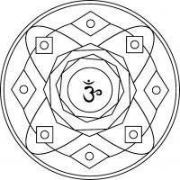 Mandala Sahasrara. Mandala para pintar enfocado al séptimo chakra.