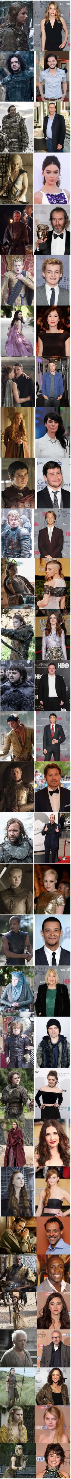 Game Of Thrones cast. On and Off the Set