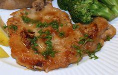 Lemon Pork Chops & Baked Potatoes