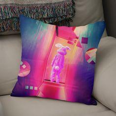 «Donnie Darko Frank by GEN Z», Numbered Edition Coussin by GEN Z - From 25€ - Curioos Donnie Darko Frank, Throw Pillows, Artwork, Design, Toss Pillows, Work Of Art, Auguste Rodin Artwork, Decorative Pillows, Artworks