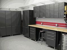 Nine Piece Set of Ultimate Garage Cabinets