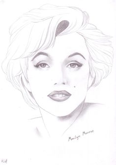 And last portrait in a while again, Marilyn Monroe everybody. Marylin Monroe Drawing, Marilyn Monroe Dibujo, Marilyn Monroe Stencil, Marilyn Monroe Wallpaper, Marilyn Monroe Painting, Marilyn Monroe Photos, Pencil Art Drawings, Realistic Drawings, Art Drawings Sketches
