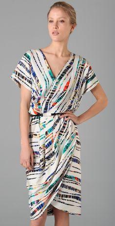 Rachel Roy Print Drape Tulip Dress - gorgeous for YangN, a sophisticated take on tie-dye