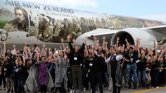 The 150 Hobbit fans celebrate their arrival in New Zealand. Middle Earth, Auckland, The Hobbit, New Zealand, Fans, Entertaining, Adventure, Celebrities, Travel