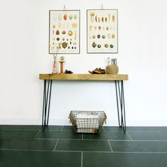 Reclaimed Console Table With Hinged Drop Leaf Console tables