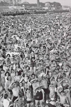 WEEGEE - Coney Island Beach, by Weegee.