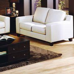 Palliser Furniture Reed Loveseat Upholstery: Leather/PVC Match - Tulsa II Chalk