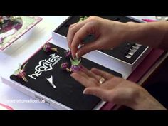 Foolproof Template to Line up Stamps with Dies for Gorgeous Flowershaping, Cardmaking & Scrapbooking - YouTube