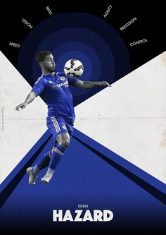BPL Star Players 2015/16 on Behance - Eden Hazard - Chelsea