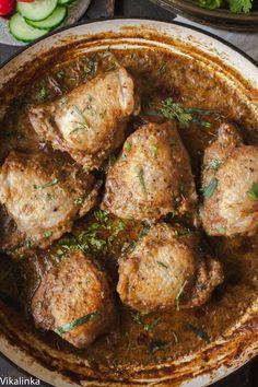 Chicken in Garlic Walnut Sauce- Georgian Chicken Satsivi