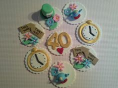Madhatter cupcake toppers
