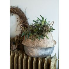 Silver Dipped Belly Basket - Large