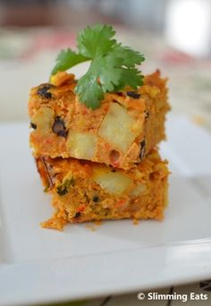 Slimming Slimming Eats Mexican Lentil Bake - Gluten Free, Dairy Free, Vegetarian, Slimming World (SP) and Weight Watchers friendly Veggie Recipes, Baby Food Recipes, Mexican Food Recipes, Great Recipes, Vegetarian Recipes, Cooking Recipes, Healthy Recipes, Lentil Recipes, Veggie Bake