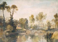 Joseph Mallord William Turner 'House beside the River, with Trees and Sheep', c.1806–7