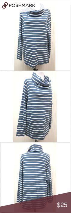 82b6383dc9 L.L. Bean Women s XL Cowl Neck Sweater Striped L S Beautiful