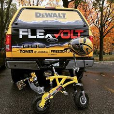 They don't call it Sunday Funday for nothing #weareDEWALT #blackandyellow #20VMAX #60VMAX #120VMAX #FLEXVOLT #FLEXVOLTbike