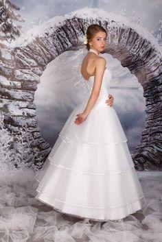 suknia ślubna księżniczka princessa falbany (2)