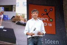 IdeenExpo 2013 in Hannover: Spannendes Programm auf der IdeenExpo! Moderator Ranga Yogeshwar macht in seinem Bühnenprogramm Wissen anschaulich...