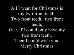 ▶ Nat 'King' Cole & His Trio - All I Want For Christmas (Is My Two Front Teeth) Lyrics - YouTube