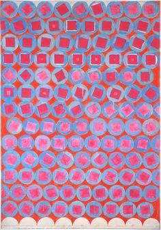 "vjeranski: "" MANFRED KUTTNER Achterbahn - 1964 tempera, fluorescent paint on deco 165 x 115 cm / 65 x 45 1/4 in """