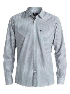 e1052754d6 Quiksilver Everday Stripe Long Sleeve Shirt Blue - Dark Denim - Surf  in  Monkeys School