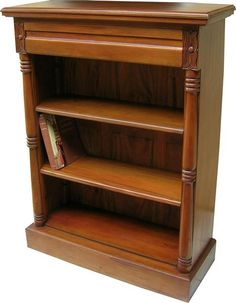 Solid Mahogany Waterfall Bookcase with drawer Antique Reproduction OCS017 NEW