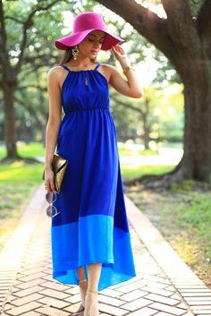 Awesome Royal Blue Summer Maxi Dress