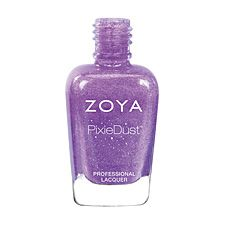 Zoya Nail Polish in Stevie can be best described as a violet sparkle, in the exclusive Zoya PixieDust Textured, Matte, Sparkle formula.