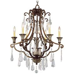 "Charlevoix 25 1/2"" Wide Antique Bronze 6-Light Chandelier - #6N962 