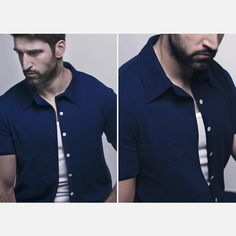 Azul marino, camisa-sudadera, algodón orgánico, www.modubat.eu